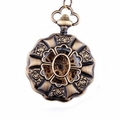 Bronze Rose Pattern Pocket Watch PW16