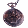 RailRoad Engraved Quartz Pocket Watch PW31