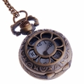 Women's Flower-Web Bronze Pendant Pocket Watch PW57