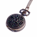 Green-Enamel on Flower-Pattern Pocket Watch PW61