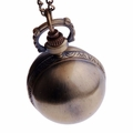 Bronze Globe Pendant Pocket Watch PW63
