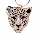 Rose Gold Tiger Head Pendant Necklace Jewelry