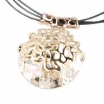 Drop Pendant Necklace Austrian Crystal in Gold