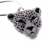 Silver Tiger Head Pendant Necklace Jewelry