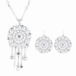 Riana Womens Fashion Pendant Necklace and Earrings