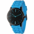 Black Dial Blue Silicone Band Watch
