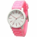 Pink-White Silicone Watch