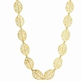 Womens Gold Plated Leaf Necklace