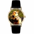 Airedale Terrier Print Watch in Gold Classic P 0130079