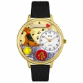 Airedale Terrier Watch in Gold or Silver Unisex G 0130079