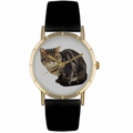 American Shorthair Cat Print Watch in Gold Classic P 0120035