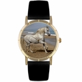 Andalusian Horse Print Watch in Gold Classic P 0110021