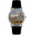 Andalusian Horse Print Watch in Silver Classic R 0110021