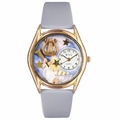 Angel with Harp Watch Classic Gold Style C 0710009