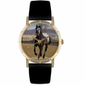 Appaloosa Horse Print Watch in Gold Classic P 0110022