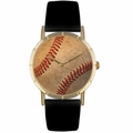 Baseball Lover Print Watch Classic Gold Style P 0840001