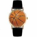 Basketball Lover Print Watch Classic Gold Style P 0840005