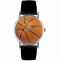 Basketball Lover Print Watch Classic Silver Style R 0840005