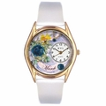 Birthstone Jewelry March Birthstone Watch Classic Gold Style C 0910003
