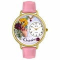 Birthstone Jewelry October Birthstone Watch in Gold or Silver Unisex G 0910010