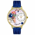 Birthstone Jewelry September Birthstone Watch in Gold or Silver Unisex G 0910009