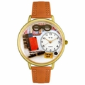 Book Lover Watch in Gold or Silver Unisex G 0460001