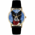 Border Collie Print Watch in Gold Classic P 0130028