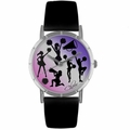 Cheerleading Lover Print Watch Classic Silver Style R 0840014