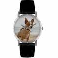 Chihuahua Print Watch in Silver Classic R 0130023