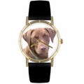 Chocolate Labrador Retriever Print Watch in Gold Classic P 0130011