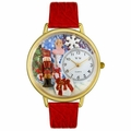 Christmas Nutcracker Watch in Gold or Silver Unisex G 1220010
