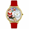 Christmas Santa Claus Watch in Gold or Silver Unisex G 1220009