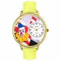 Clown Face Watch in Gold or Silver Unisex G 0210002