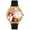 Dog Lover with Miniatures Watch in Gold or Silver Unisex G 0130080