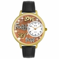 Faith Hope Love Joy Watch in Gold or Silver Unisex G 0710015