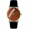 Football Lover Print Watch Classic Gold Style P 0840017