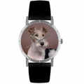 Fox Terrier Print Watch in Silver Classic R 0130039