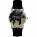 Friesian Horse Print Watch in Silver Classic R 0110025