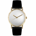 Golf Lover Print Watch Classic Gold Style P 0840009