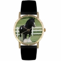 Gypsy Vanner Horse Print Watch in Gold Classic P 0110026