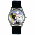 Halloween Flying Witch Watch Classic Silver Style S 1220009