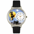 Halloween Flying Witch Watch in Silver Unisex U 1220001