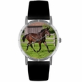 Hanoverian Horse Print Watch in Silver Classic R 0110027