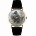 Himalayan Cat Print Watch in Gold Classic P 0120039