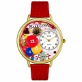 I Love Buttons Watch in Gold or Silver Unisex G 0410011