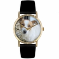 Jack Russel Print Watch in Gold Classic P 0130048
