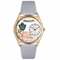 Jewelry Lover Blue Pearls Watch Classic Gold Style C 0910020