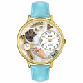 Jewelry Lover Blue Watch in Gold or Silver Unisex G 1010010