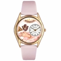 Jewelry Lover Pink Pearls Watch Classic Gold Style C 0910018