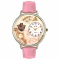 Jewelry Lover Pink Pearls Watch in Silver Unisex U 0910016